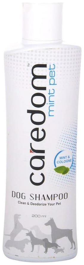 Caredom Mint Pet Cool Dog Shampoo With Mint & Cologne Extracts For Clean & Deodorize Your Pet (200 ml)