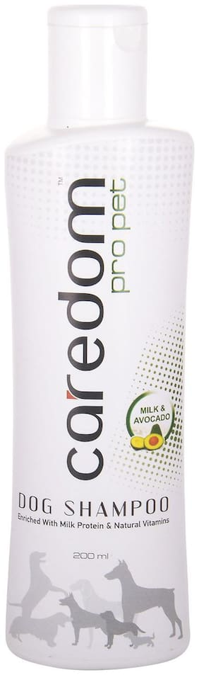 Caredom Pro Pet Protein Enriched Dog Shampoo With Milk & Avocado Extracts For Its Soft & Silky Coat (200 ml)