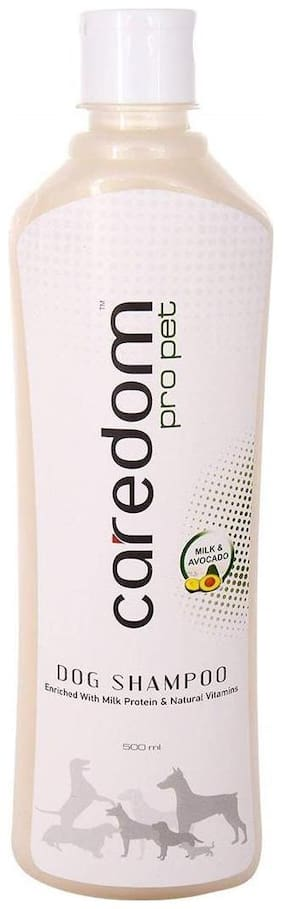 Caredom Pro Pet Protein Enriched Dog Shampoo With Milk & Avocado Extracts For Its Soft & Silky Coat (500 ml)