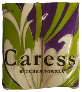 CARESS Kitchen Rolls (70sheets x 4 Rolls) (Pack of 1)