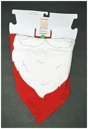 Carter's Baby BIB SANTA'S BEARD Red Bandanna NWT Just One You Christmas