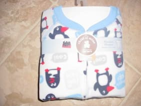 carters  PENGUINS BABY  SLEEPERS SZ  3 TODDLER child of mine