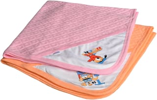 CATCUB Ultra Soft Cotton Baby Hooded Towel Combo -(Pack of 2) (CCT-03-04)