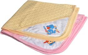 CATCUB Ultra Soft Cotton Baby Hooded Towel Combo -(Pack of 2) (CCT-04-05)