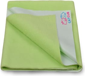 CATCUB - Water Proof and Reusable Bed Protector/Mat/Absorbent Dry Sheets (140cm X 100cm, Large) - Green