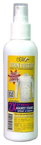 Cero Stain Buster For Clothes 2X Strength To Remove Fabric Stains Spray (200 ml)
