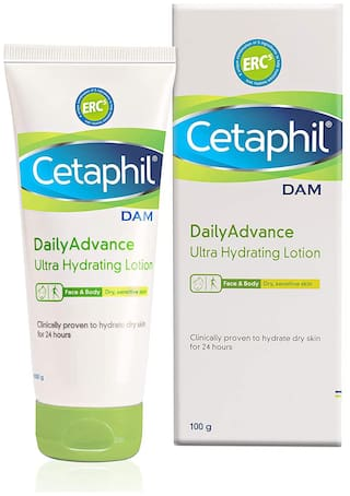 Cetaphil Dam Daily Advance Ultra Hydrating Lotion 100g (Pack of 1)