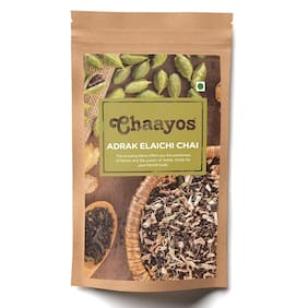 Chaayos Adrak Elaichi Tea - Premium Chai Patti for Cough & Cold Remedy - 100g (Pack of 1)