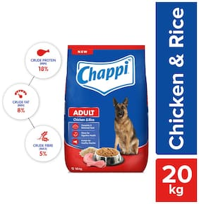 Chappi Adult Chicken, Rice Dry Dog Food 20 kg