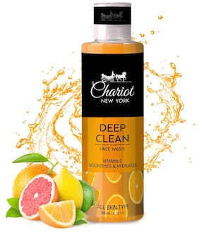 Chariot New York Deep Clean Vitamin C Face Wash 120 ml (Pack of 1)