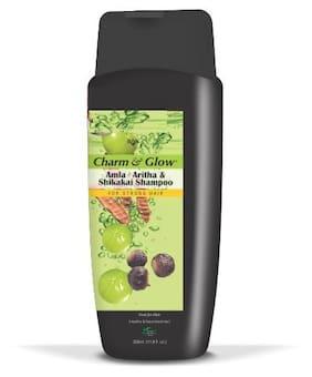 Charm & Glow Amla, Aritha & Shikakai Shampoo 350 ML for Healthy Nourished & Strong Hair