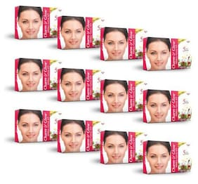 Charm & Glow Natural Herbal Facial Kit with 5 Steps Facial for Glowing Face 27 ml (Pack of 12)