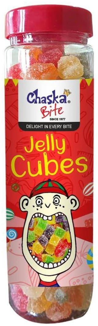 Chaska Bite|Jelly Candies|Cubes|Soft|Fruit Flavoured|250g