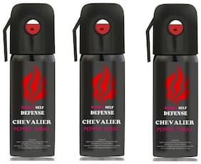 Chevalier Women Self Defense Pepper Spray 55 ml Pack of 3