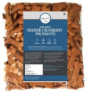 Chewers Oven Baked Real Chicken & Blueberry Dog Biscuits - Chicken Flavour 1 kg