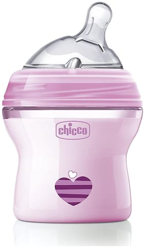 Chicco 150 ml Natural Feeling Feeding Bottle (Pink)