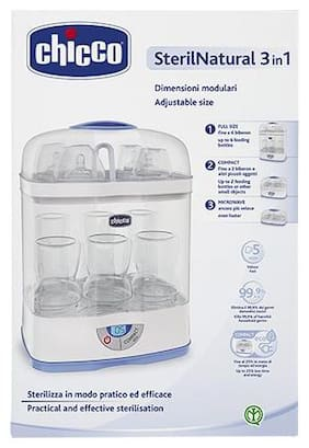 Chicco 3-in-1 Baby 6 Bottles Sterliser With Adjustable Size 1 pc
