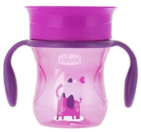 Chicco 360 Degrees Spill Proof Glass - Girl, 12m+ 200 ml