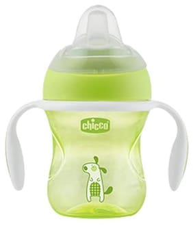 Chicco Baby Water/Milk/Juice Sipper Cup - Green, 4+ 200 ml