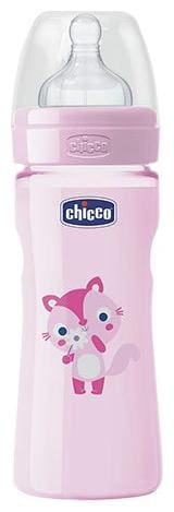 Chicco Baby Feeding Bottle Fast - Pink, 4m+ 330 ml