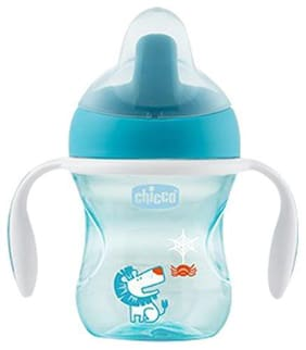 Chicco Baby Water/Milk/Juice Sipper Cup - Light Blue, 6m+ 200 ml