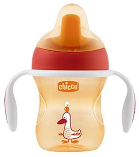 Chicco Baby Water/Milk/Juice Sipper Cup - Red, 6m+ 200 ml