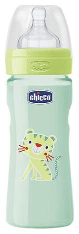 Chicco Baby Feeding Bottle Med - Green, 2m+ 250 ml