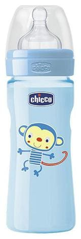 Chicco Baby Feeding Bottle Fast - Blue, 4m+ 330 ml