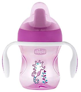 Chicco Baby Water/Milk/Juice Sipper Cup - Pink, 6m+ 200 ml