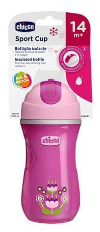Chicco Baby Insulated Sipper Bottle - Pink  14m+ 266 ml