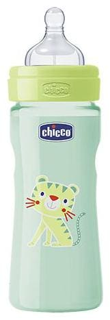Chicco Baby Feeding Bottle Fast - Green, 4m+ 330 ml