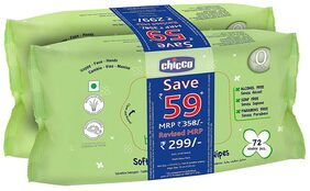 Chicco Baby Wipes 72 (Pack of 2)