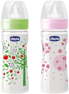 Chicco Chicco Well - Being Feeding 0M - 150 ml (Green Pink)