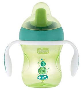 Chicco Training Sipper Cup 200 ml (6 Months) (Green) (Pack of 2)