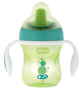 Chicco Training Sipper Cup 200 ml (6 Months) (Green And Orange)