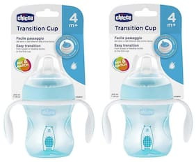 Chicco Transition Sipper Cup 200 ml (4 Months) (Blue) (Pack of 2)