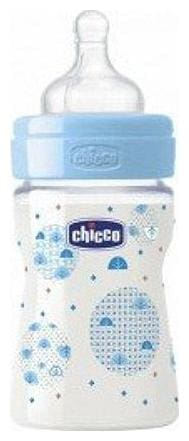 Chicco Wellbeing Pp Bottle - Blue 150 ml