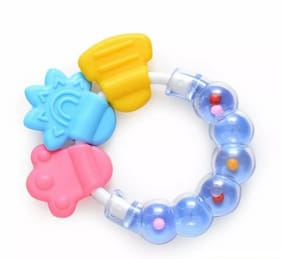 Child Chic Baby Rattlr Teeher Ideal For Baby Gums Teether (Blue)