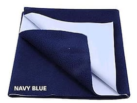 ChildChic Bed Protector Sheet- Waterproof Reusable (Navy Blue/Medium/100Cm X 70Cm)