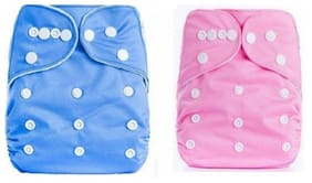 ChildChic Quirk Reusable Baby Washable Cloth Cotton Diaper WITHOUT INSERTS (Pack Of 2)