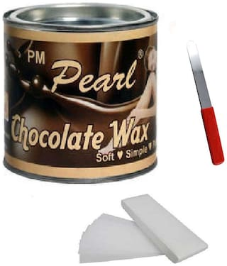 Choclate Hot Wax 600 g For Hair Removal With 90 Wax Strips Pack Knife