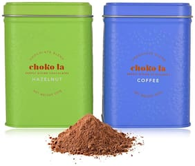 Chokola Drinking Chocolate Powder Signature|Coffee|Hazelnut Blend (250 gm) Pack of 2