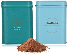Chokola Drinking Chocolate Powder Signature Classic |Milk|Dark (250 gm)Blend Pack of 2