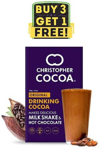 Christopher Cocoa Drinking Chocolate Cocoa Powder Dark No Sugar 100g Buy 3 Get 1 Free