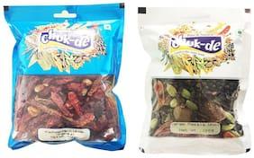 Chukde Kashmiri Mirch whole,Garam Masala Whole 100 g Pack of 2