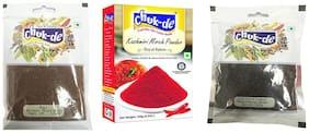 Chukde Rai/Brown Mustard,Kashmiri Mirch Powder,Kali mirch Sabut Pack of 3