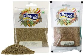 Chukde Spices Jeera Whole 100g and Ajwain Whole 100g (Pack of 2)