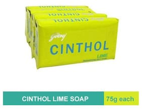 Cinthol Lime Soap 75 g ( Pack of 4)
