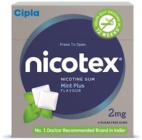 Cipla Nicotex Nicotine Gum 2mg Mint Plus (9x10) Pcs