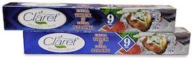 Claret Food Grade Aluminium Foil Roll 9m (Pack of 2)